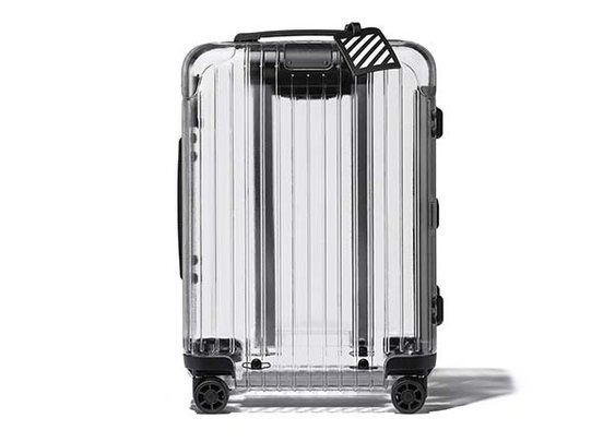 The Off-White x Rimowa transparent suitcase is clearly TSA-Friendly!