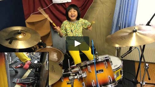 Good Times Bad Times as performed by Yoyoka, 8 year old drummer
