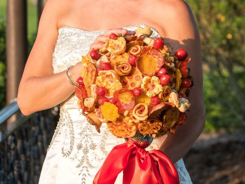 These Pizza Bouquets and Boutonnieres Are a Saucy Addition to Any Wedding   Food & Wine