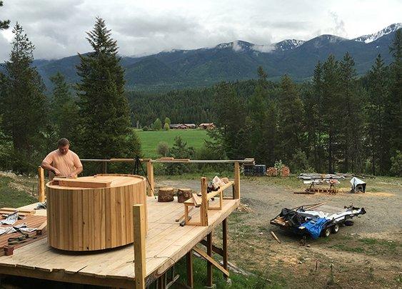 Our DIY Wood Fired Cedar Hot Tub