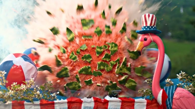Slow Motion Explosions of Classic 4th of July Food Set to a Moving Rendition of 'America the Beautiful'