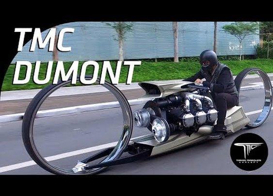 TMC Dumont na rua - A MOTO COM MOTOR DE AVIÃO - YouTube