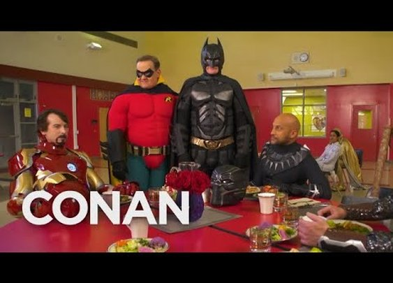 Batman Wants To Join The Marvel Universe  - CONAN on TBS - YouTube