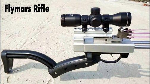 Flymars Hunting Slingshot Rifle - Double Safety Device - Newest Slingshot Gun Terminator - YouTube