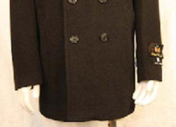 Get Double Breasted Peacoat For Men In Brown Color