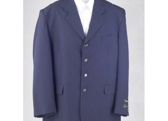 Pre Woolen Fabric Blazer For Men With Notch Lapel In Blue color