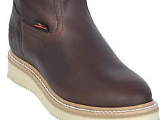 Rounded Toe Los Altos Grasso Nappa Work Boots For Men