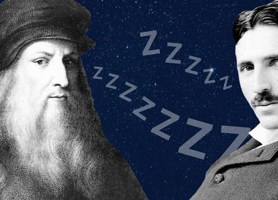 Leonardo da Vinci and Nikola Tesla Allegedly Followed the Uberman Sleep Cycle