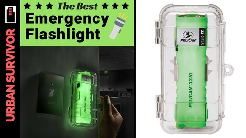 The Best Emergency Flashlight - The Pelican 3310ELS - YouTube