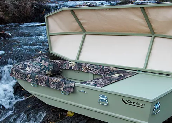 Arkansas company makes caskets shaped like fishing boats