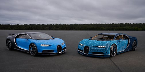Lego Made a Life-Size Drivable Bugatti