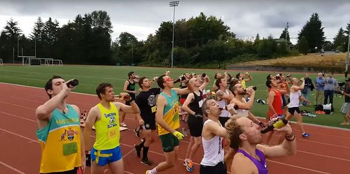 Beer Mile World Record Disqualified for Not Drinking Enough Beer