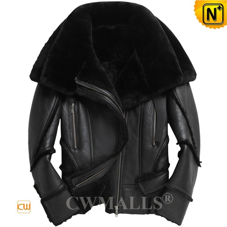 Buy Sheepskin Jacket Cwmalls New York Men Shearling Bomber Jacket