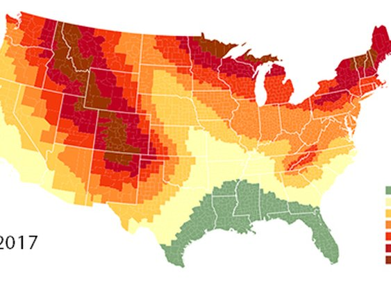 2018 Fall Foliage Predictor Map
