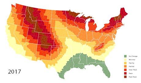 2018 Fall Foliage Predictor Map