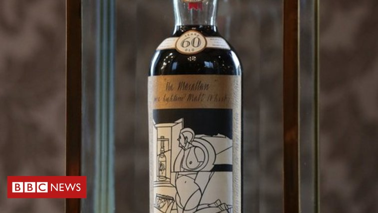 Bottle of whisky sold for world record £848,000 - BBC News