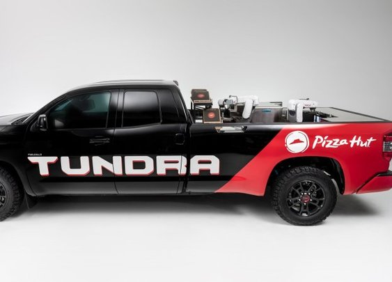 Pizza Hut's truck-mounted pizza oven