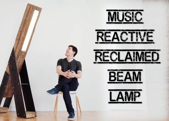 DIY Giant Timber Beam Lamp That Reacts to Music