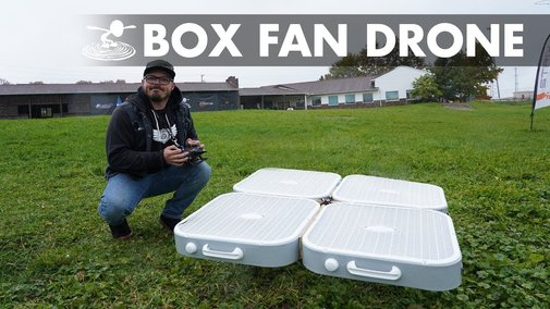 Flying Box Fan Drone! - YouTube