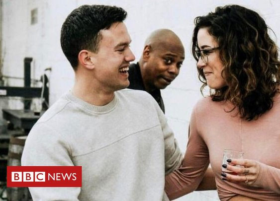 Comedian Dave Chappelle photobombs engagement shoot