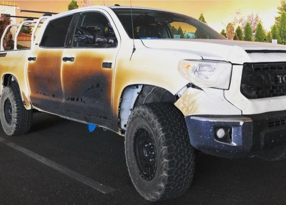 Toyota to replace heroic nurse's Tundra burned in wildfire
