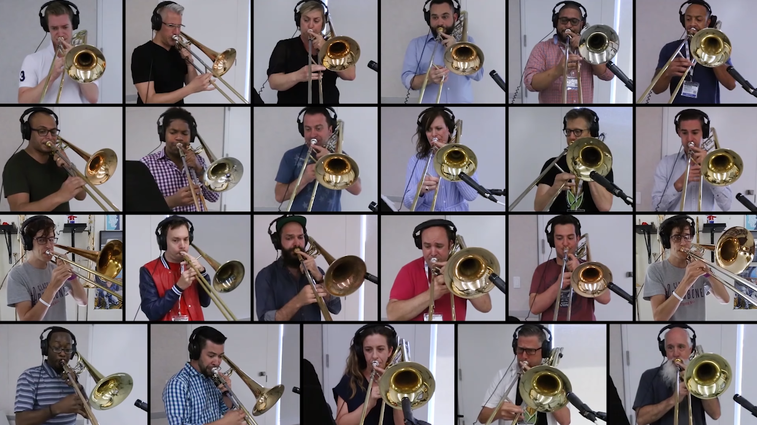 28 Trombonists Play 'Bohemian Rhapsody,' Will Send Shivers Down Your Spine : All Songs Considered : NPR