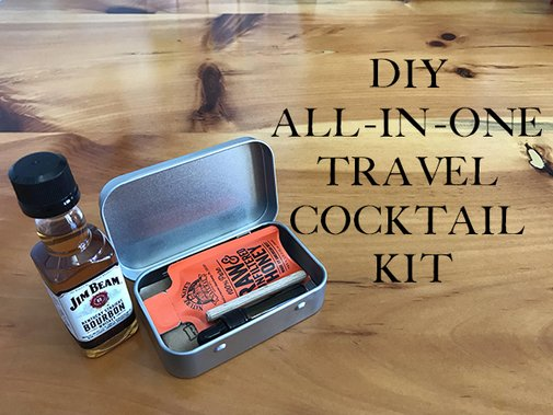 Fly the Merrier Skies: How to Make a DIY All-in-One Travel Cocktail Kit
