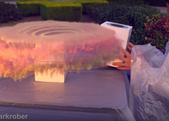 This fake package covers porch thieves in glitter and fart spray