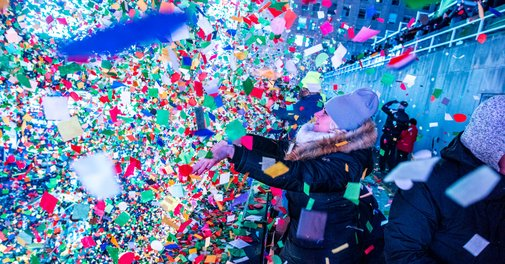How to Dump 3,000 Pounds of Confetti on Times Square