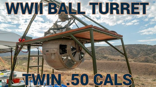 WW2 Ball Turret with twin .50 cals