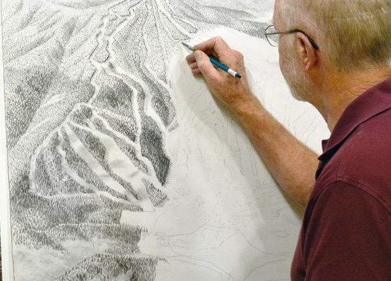 The Man Behind Most of the Ski Maps in America | Outside Online