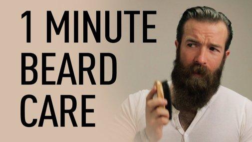 1 Minute Beard Grooming | Jeff Buoncristiano - YouTube