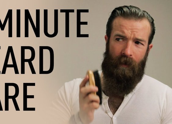 1 Minute Beard Grooming | Jeff Buoncristiano - YouTube