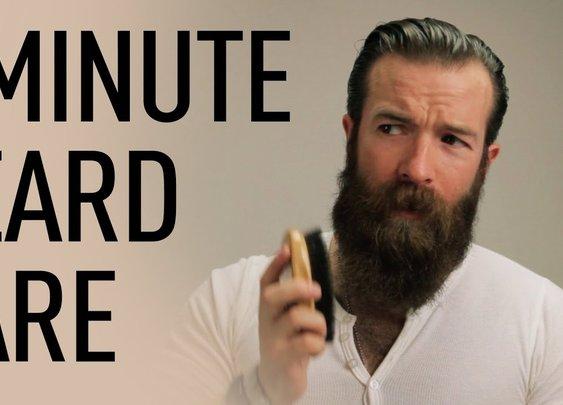1 Minute Beard Grooming   Jeff Buoncristiano - YouTube