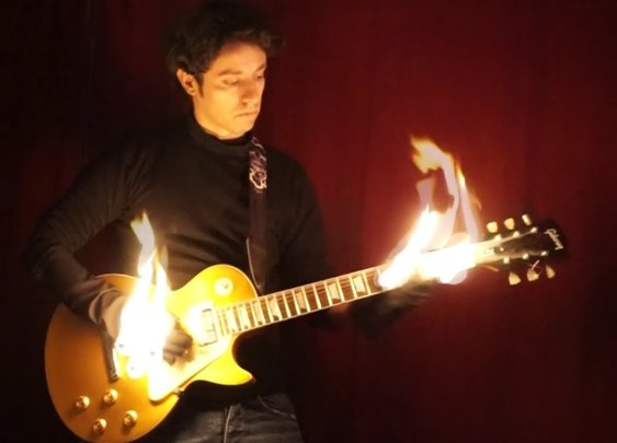 Guitar played with Fire