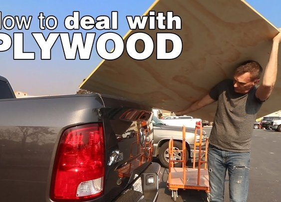 How to break down plywood. A guide to cutting, moving and hauling plywood by yourself.