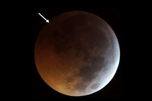 A meteorite hit the moon during Monday's total lunar eclipse