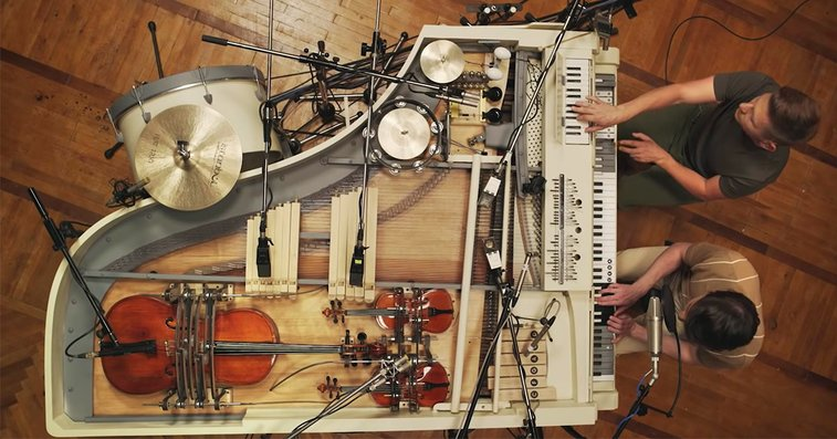 Twenty Instruments Reconstructed to Play Through the Keys of a Vintage Piano | Colossal