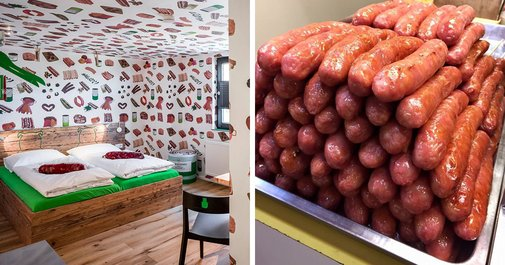 You can now stay at the world's first sausage themed hotel