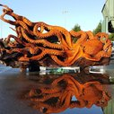 Artist Uses a Chainsaw to Transform a Fallen Redwood Into Giant Pacific Octopus