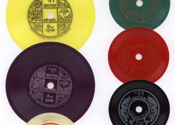 Postage Stamps from Bhutan That Double as Playable Vinyl Records