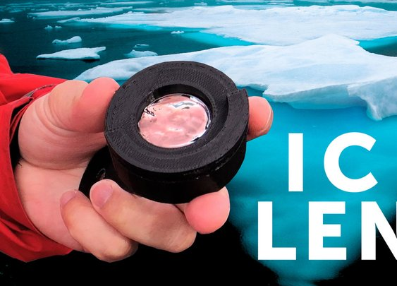 I made a CAMERA LENS with an ICEBERG