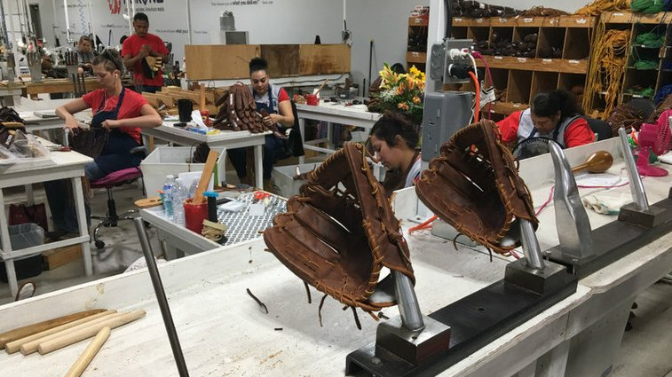 A Baseball Glove Factory In Nocona, Texas, Is One Of The Only Left In The U.S.