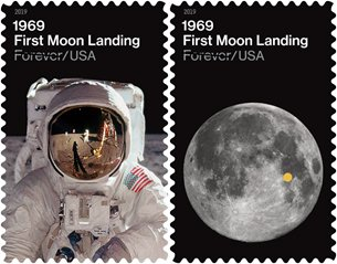 New Stamps Celebrate 50th Anniversary of First Moon Landing