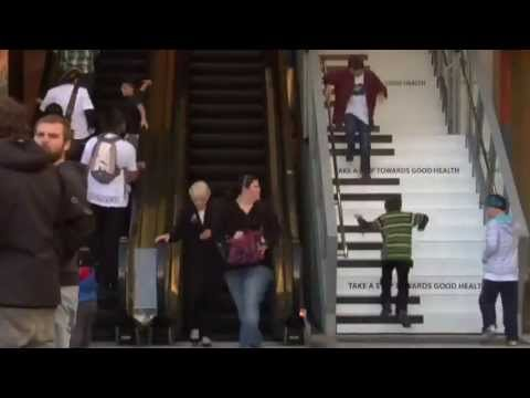 For Good Health... Piano Stairs..creative engineering - YouTube