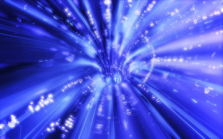 Travel through wormholes is possible, but slow
