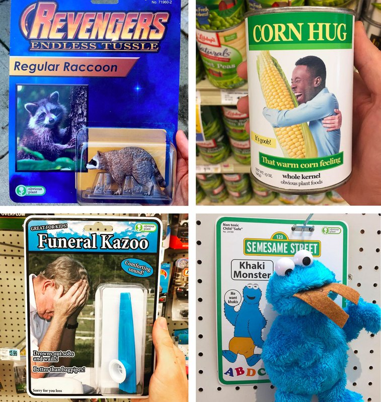 Send-Ups of Pop Culture and Capitalism Hidden in Retail Stores by Obvious Plant | Colossal