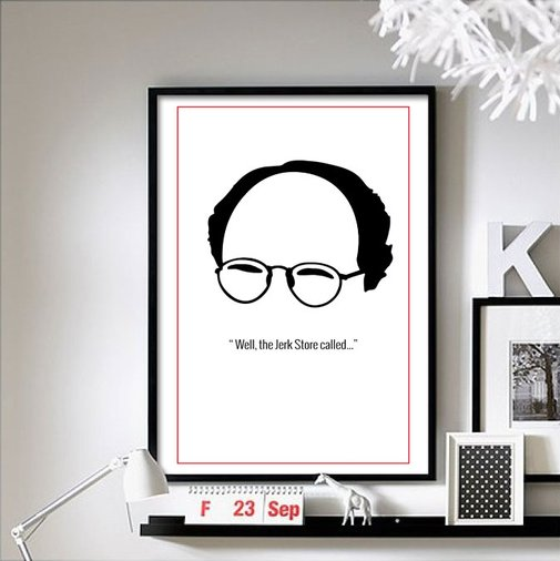 Seinfeld - ('Jerk Store') wall art poster
