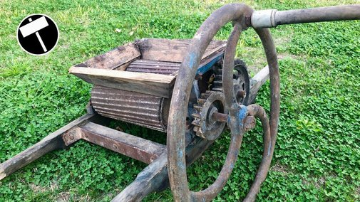 Antique Grappe Crusher Restoration - YouTube