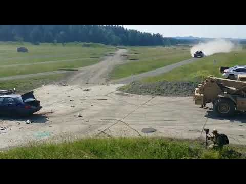 What Happens When a Tank Runs Over a Car at High Speed